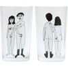 glas naked couple & naked couple back