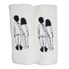 guest towel naked couple back (set of 2)