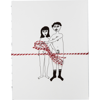hardcover notebook naked couple