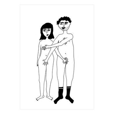 postkaart naked couple