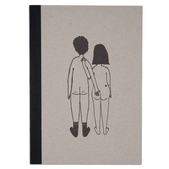 hardcover notebook naked couple back