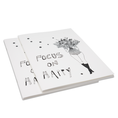 softcover notebook focus on happy & flower girl A5