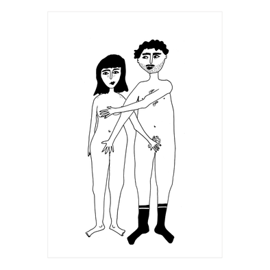poster naked couple A4