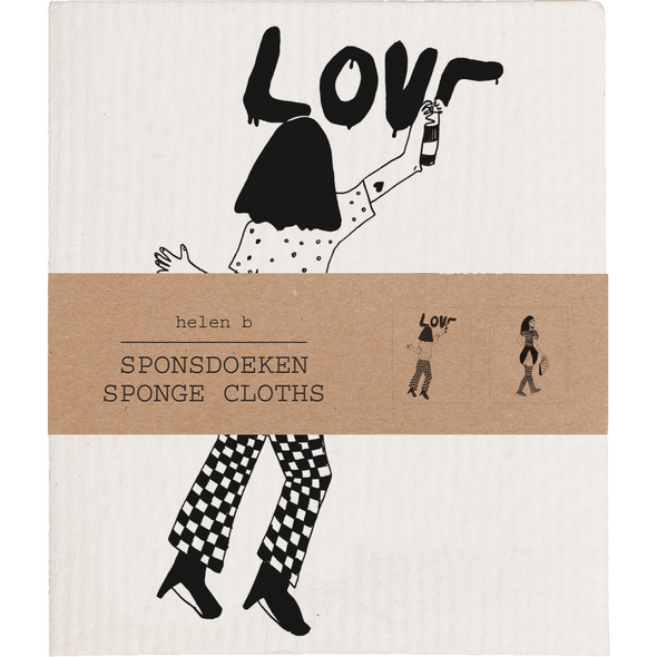 sponsdoek love & slip with dots