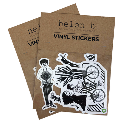 vinyl stickers flower man