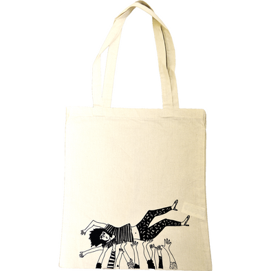tote bag crowdsurfing girl
