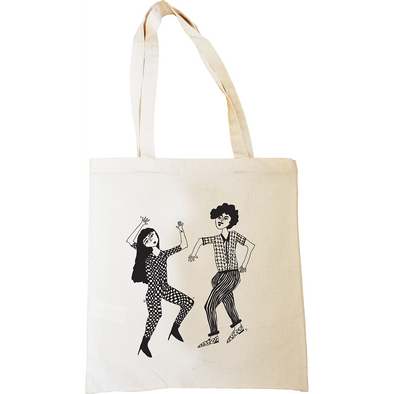 tote bag dancing couple