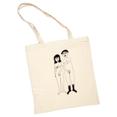 tote bag naked couple