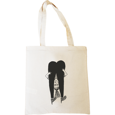 tote bag upside down