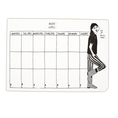 weekly planner A4 boots man