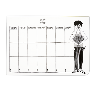 weekly planner A4 flower man