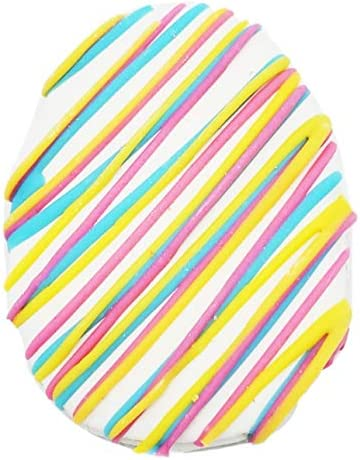 Claudia's Canine Bakery Striped Easter Egg Dog Treats, 12 Cookies