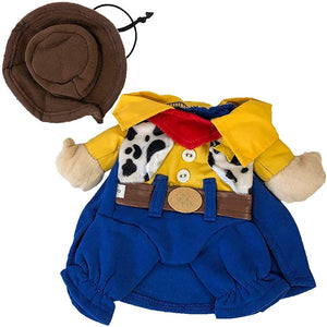Midlee Yellow Cowboy Fake Arms Dog Costume (12)