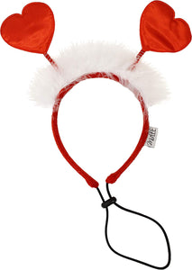 Midlee Valentine's Heart Large Dog Headband