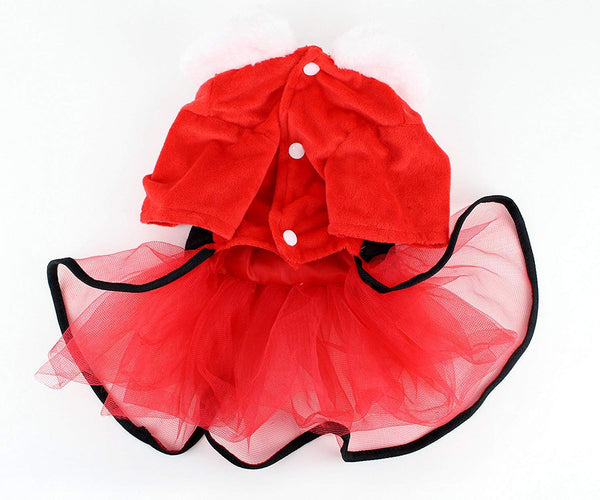 Midlee Mrs. Claus Santa Tutu Dog Dress