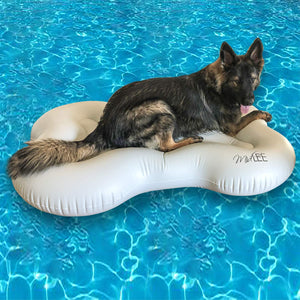 Midlee Dog Raft Pool Float Inflatable Bone Shape