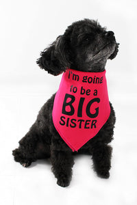 Midlee I'm Going to be a Big Sister Dog Bandana