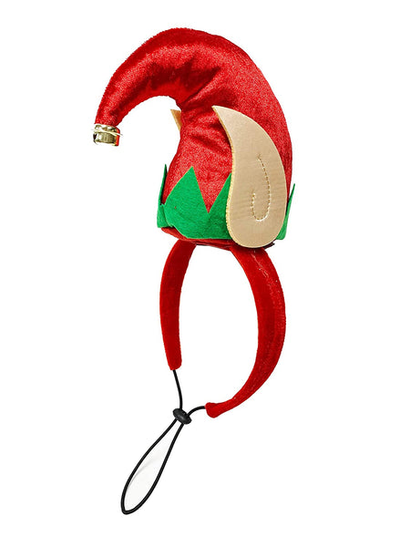 Midlee Elf Dog Hat with Bell Neck Band Dog Costume