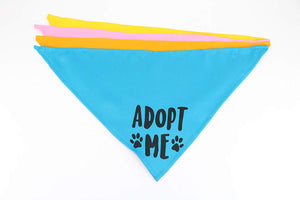 Midlee Adopt Me Dog Bandana- Pack of 4 Assorted Colors
