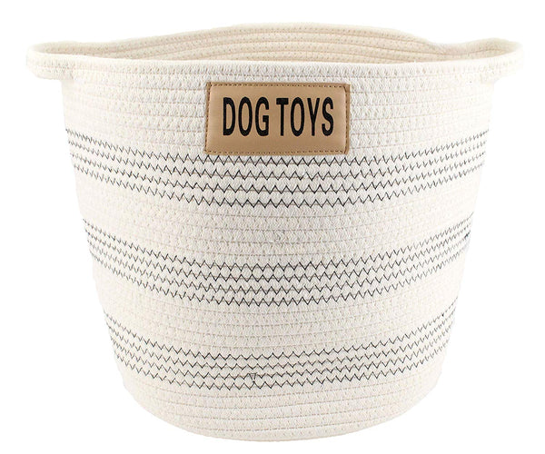 Midlee Dog Toy Rope Cotton Basket