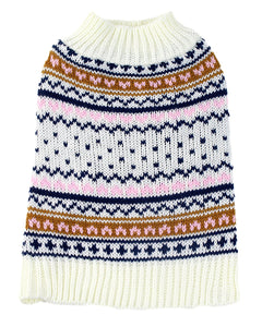 Midlee Berklee Fair Isle Dog Sweater