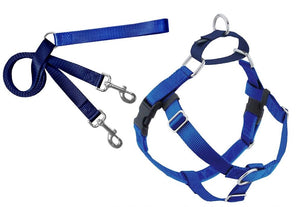 2 Hounds Design Freedom No-Pull Dog Harness Training Package, X-Small, Blue