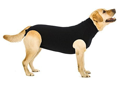 Suitical Recovery Suit for Dogs - Black - Size Large