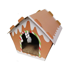 Midlee Gingerbread Christmas Cat Scratcher House