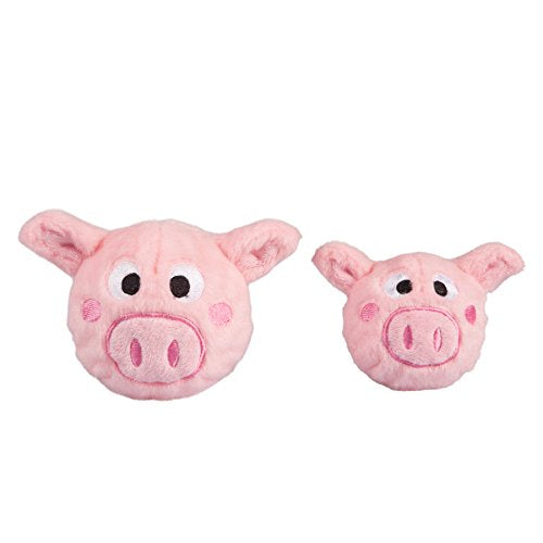 fabdog Pig faball Squeaky Dog Toy (Medium)