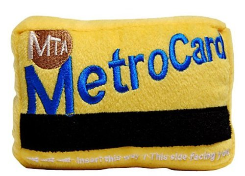fabdog NYC MetroCard Squeaky Dog Toy