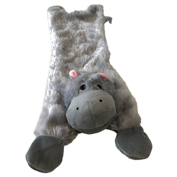 Hippo Stuffingless Dog Toy by Midlee
