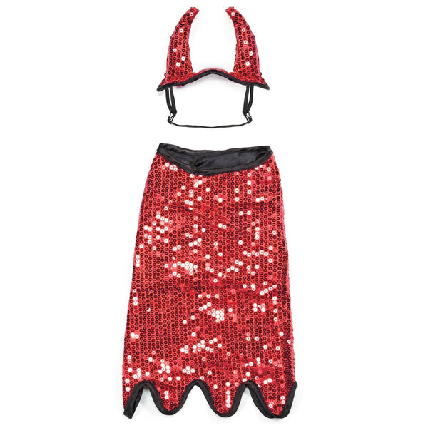 "Zack & Zoey Sequin Devil Dog Costume, 24""/X-Large"