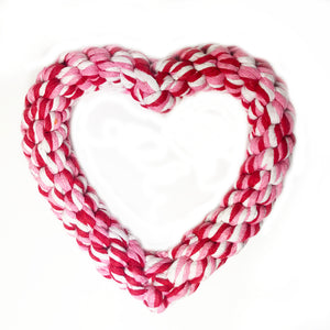 Midlee Valentine's Heart Rope Dog Toy