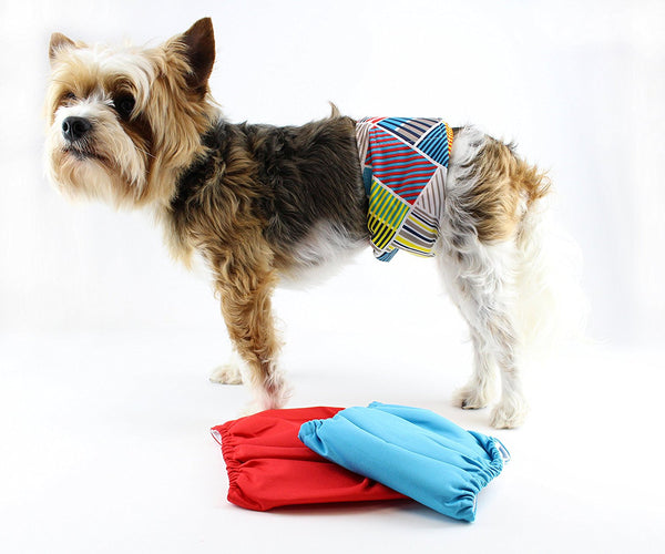 Reusable & Washable Dog Belly Band 3 Pack by Midlee