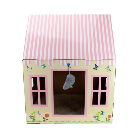 Midlee Cottage Cat Scratcher House