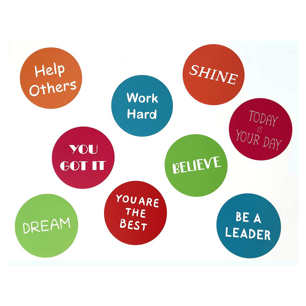 Midlee Motivational Floor Hallway Circle Decals - Set of 9