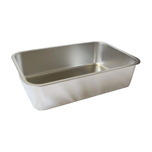 "Midlee Stainless Steel Cat Litter Box- XL- 23.5"" x 15.5"" x 5.75"""