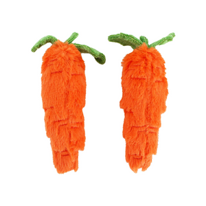 Midlee Plush Carrot Easter Dog Toy- Pack of 2