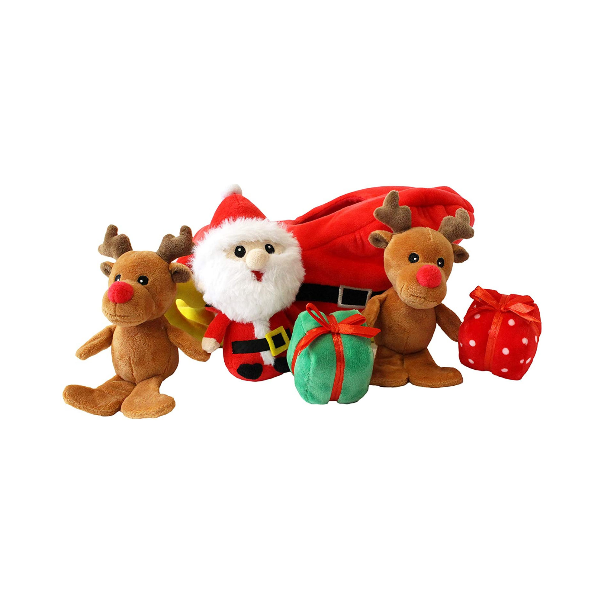 Midlee Santa Sleigh Find a Toy Christmas Dog Toy