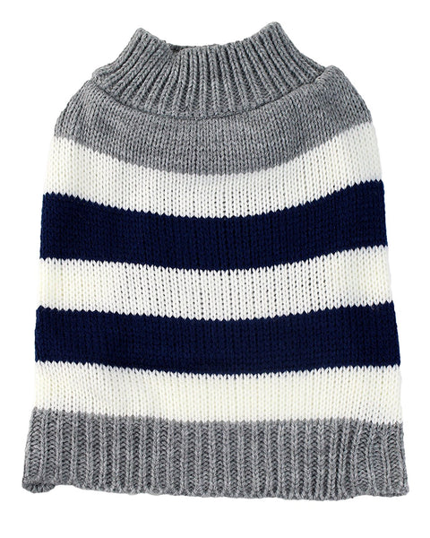 Midlee Striped Colorblock Dog Sweater