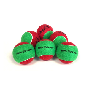 Midlee Merry Christmas Dog Tennis Balls