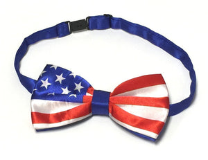 Midlee USA Flag Dog Bow Tie 14-18 Necks
