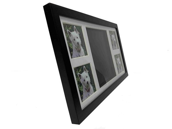 Midlee Black 4 Photo Paw Print Frame