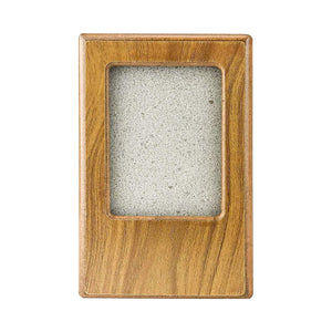 "Midlee Oak Picture Frame Pet Urn 5"" x 3.75"" x 3.5"", Up to 10lb Pet"