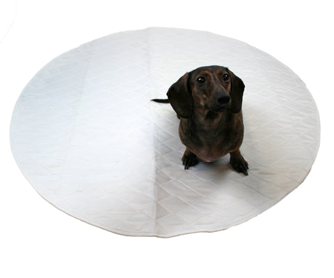 "Midlee Washable Whelping & Pee Pad for Dogs 36"" Round Pack of 3"