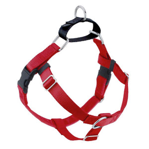 2 Hounds Design Freedom No-Pull Nylon Dog Harness, Small, Red