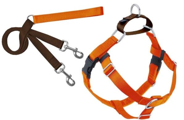 Freedom No-Pull Dog Harness Training Package with Leash, Rust Orange Large