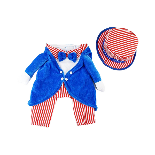 Midlee Uncle Sam 4th of July Fake Arms Dog Costume