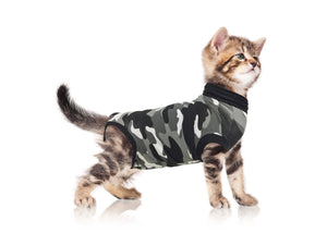 Suitical Cat Recovery Suit - Small / Black Camo