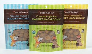 CocoTherapy Maggie's Macaroons Gourmet Treats for Dogs (Variety Pack)